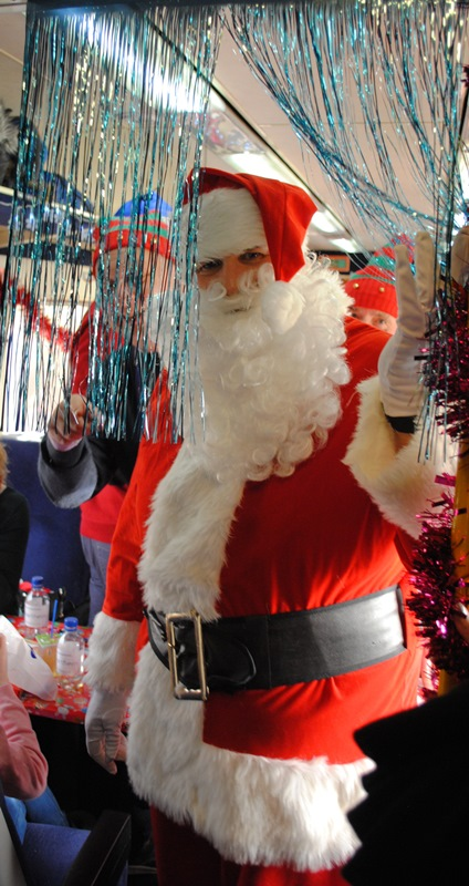 Father Christmas stops off on his world tour to bring cheer to the children of Cumbria