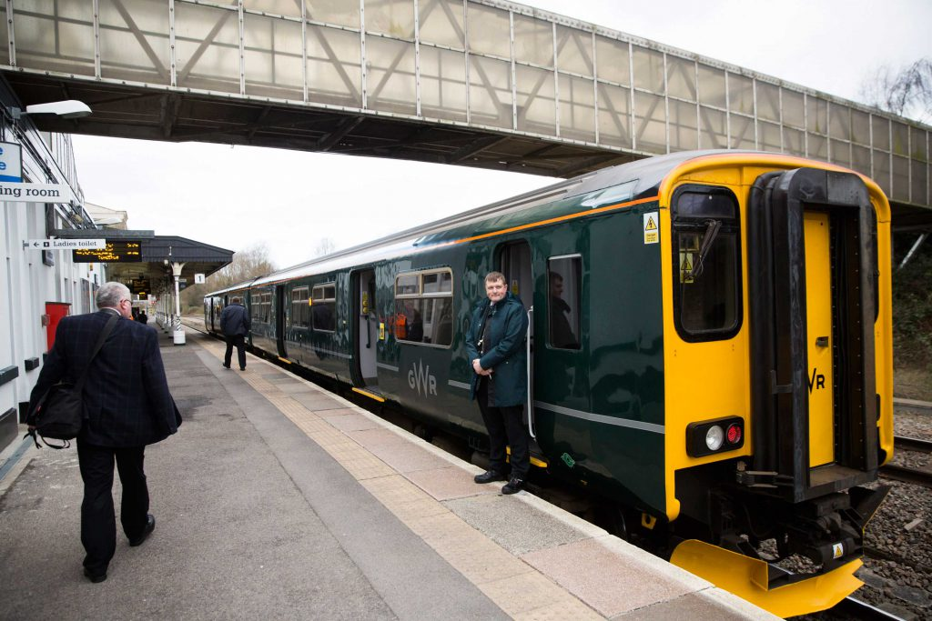 All aboard! The special GWR service to commemorate TransWilts as the country's newest CRP.